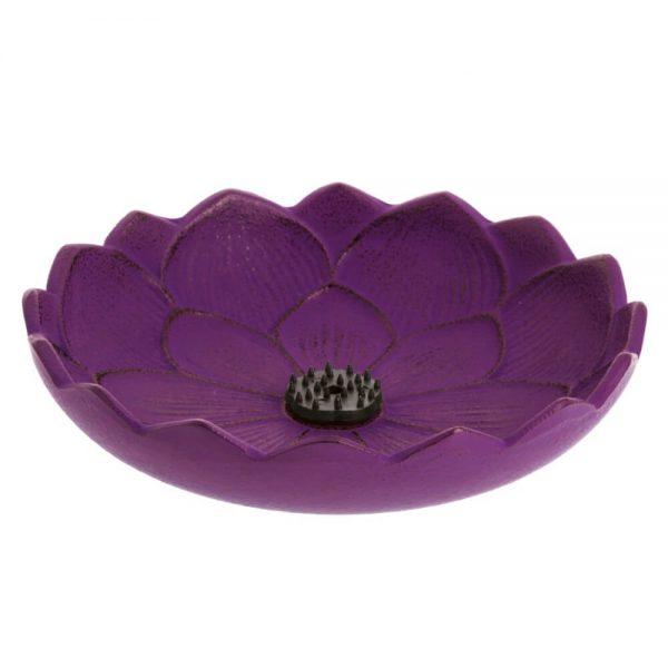 inciensario iwachu flor loto purpura