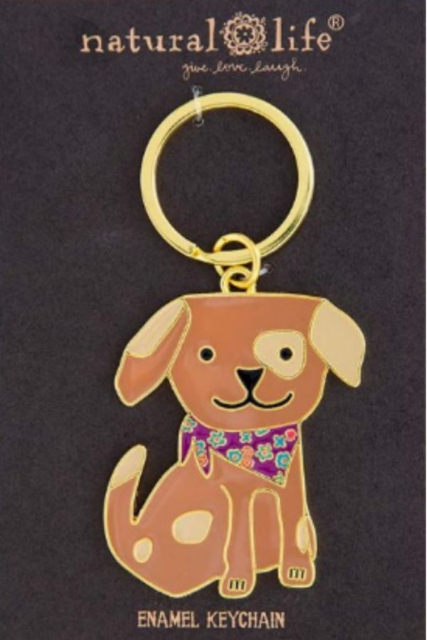 Llavero Dog Enamel Keychain Natural Life