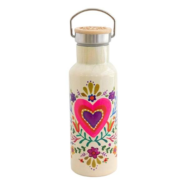 Botella termo reutilizable Corazón